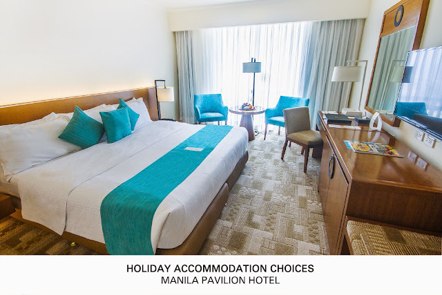 Holiday Accommodation choices at the Manila Pavilion Hotel