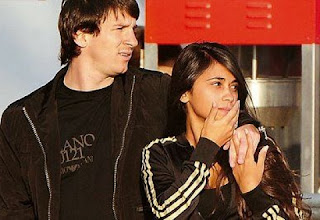 Lionel Messi with Wife