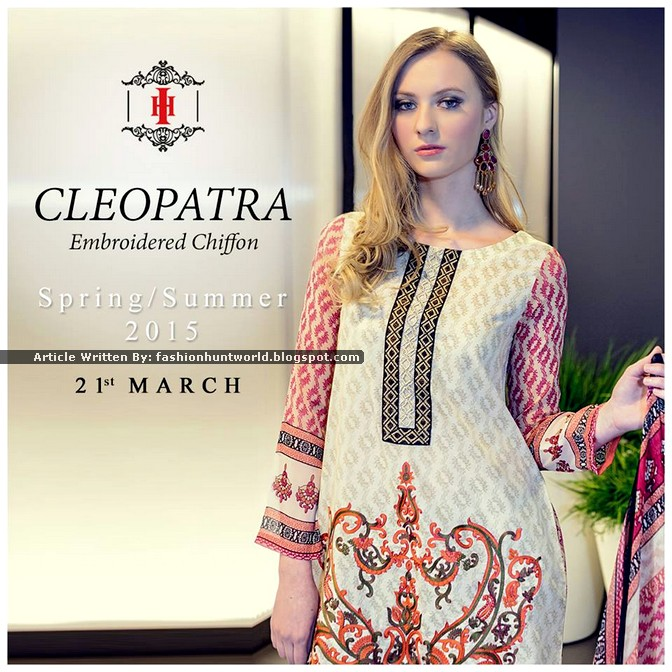 Ittehad Cleopatra Embroidered Chiffon 2015