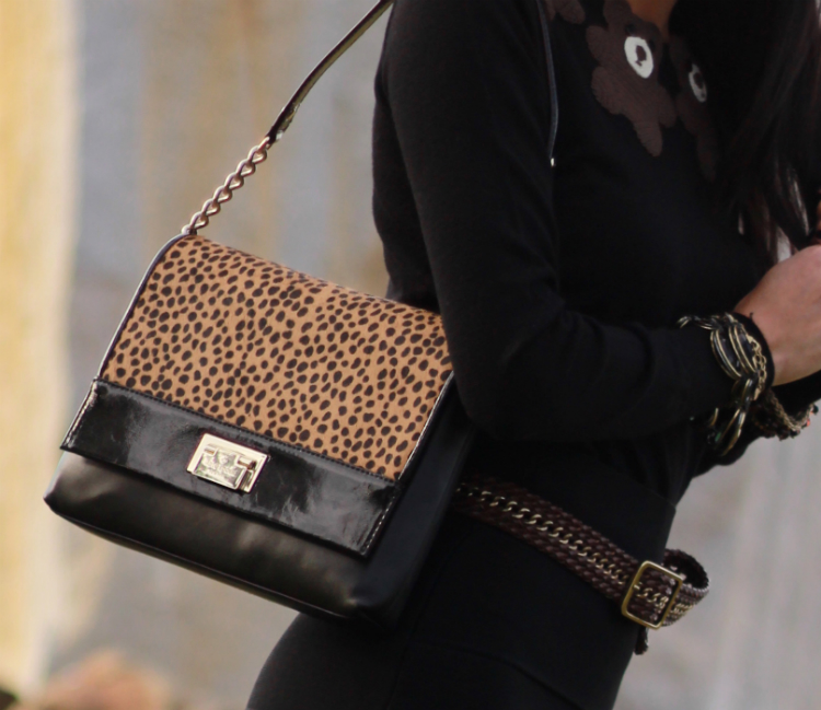 leopard purse outfit idea