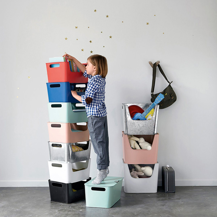 metal boxes storage for kids' room from AM-PM