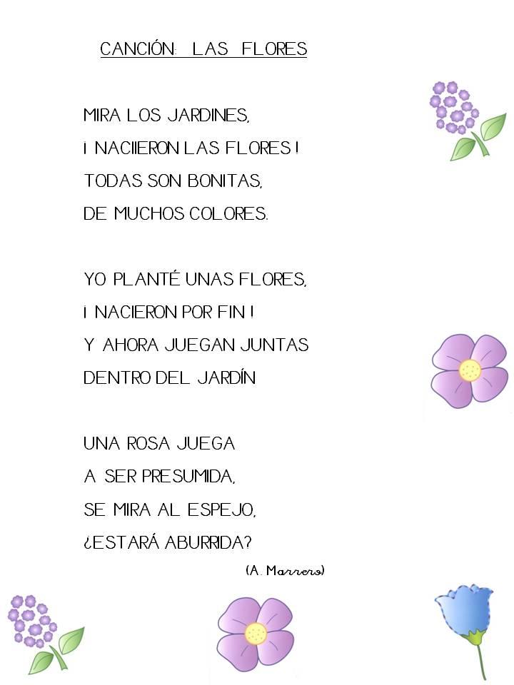 Maestra de infantil canci n las flores for Cancion jardin de rosas en ingles