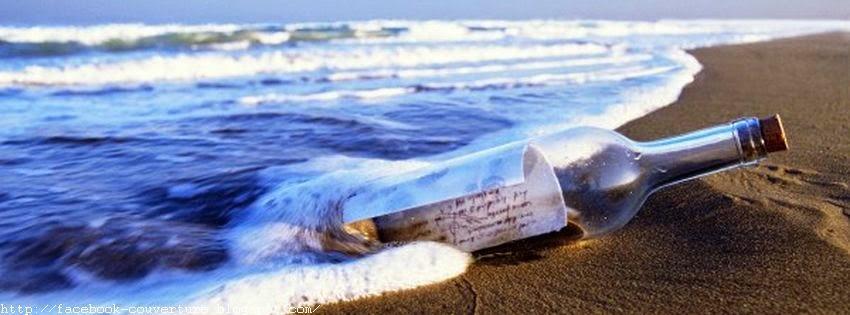Couverture facebook bouteille à la mer