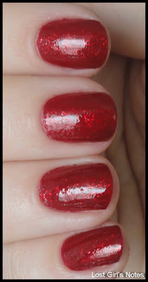 nubar red ruby glitz swatch