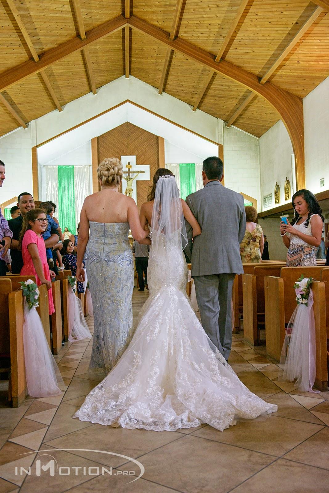 Wedding Photography Bakersfield California Catholic Dress Walking Down The