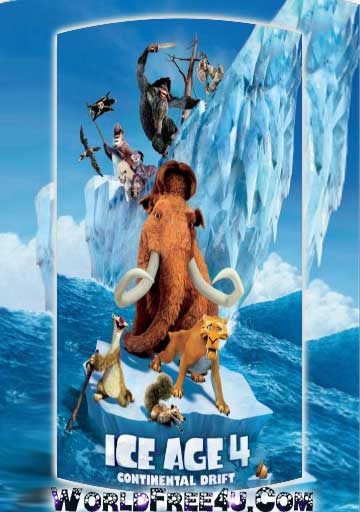 Poster Of Ice Age: Continental Drift (2012) Full English Movie Watch Online Free Download At worldfree4u.com