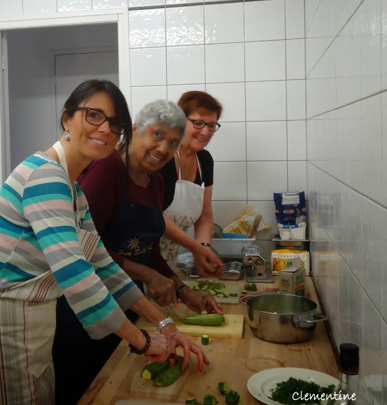 Le blog de clementine cours de cuisine italienne contorni for Association cours de cuisine