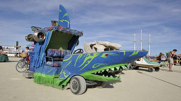 Shark Burning Man Mutant Vehicle