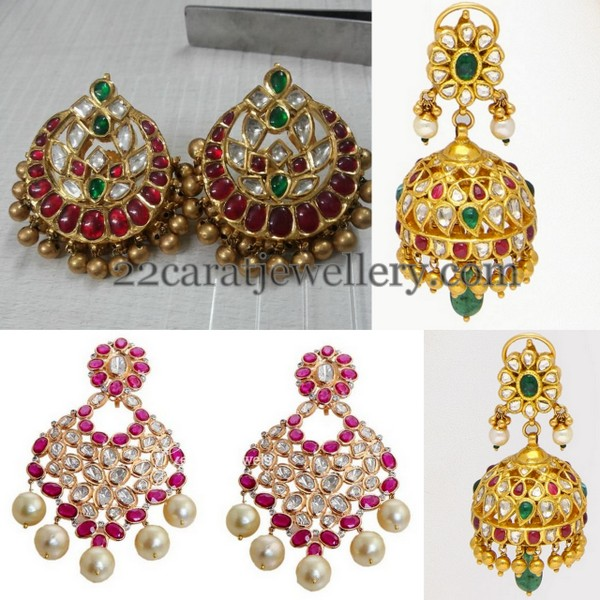 Kundan Chandbalis and Pretty Jhumkas
