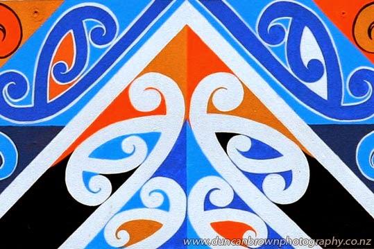 Part of a Maori motif at Te Wananga o Aotearoa, Hastings photograph