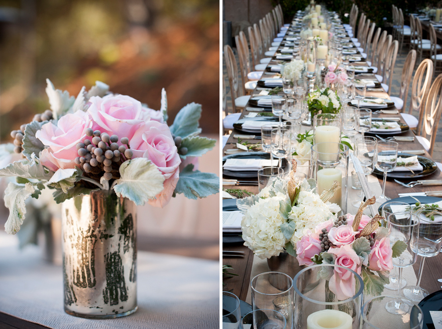 metallic wedding ideas, elegant table setting