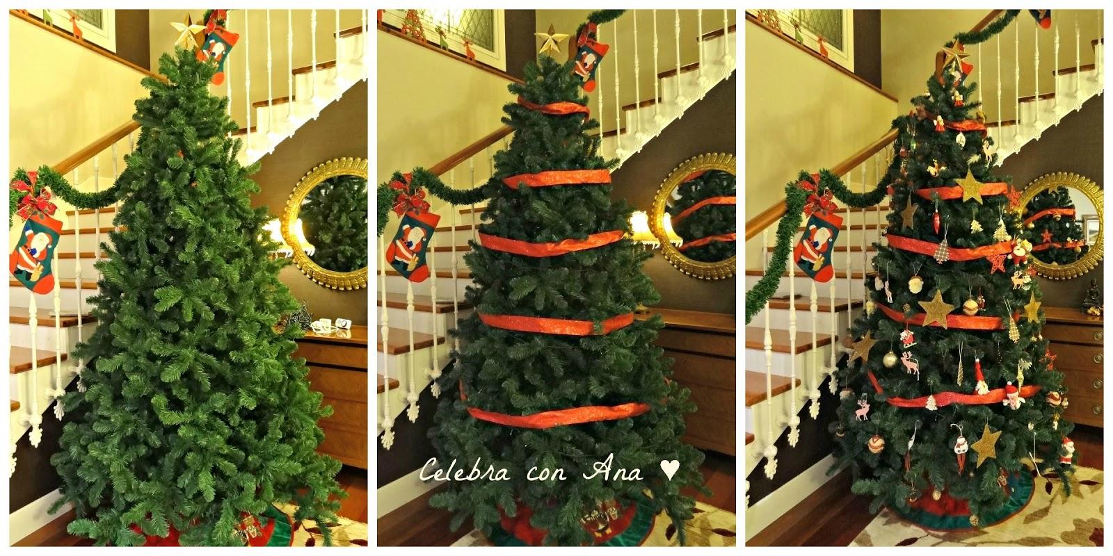 Celebra con ana compartiendo experiencias creativas - Arbol navidad casa ...