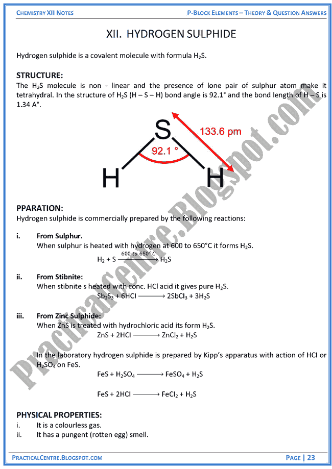 p-block-elements-theory-and-question-answers-chemistry-12th