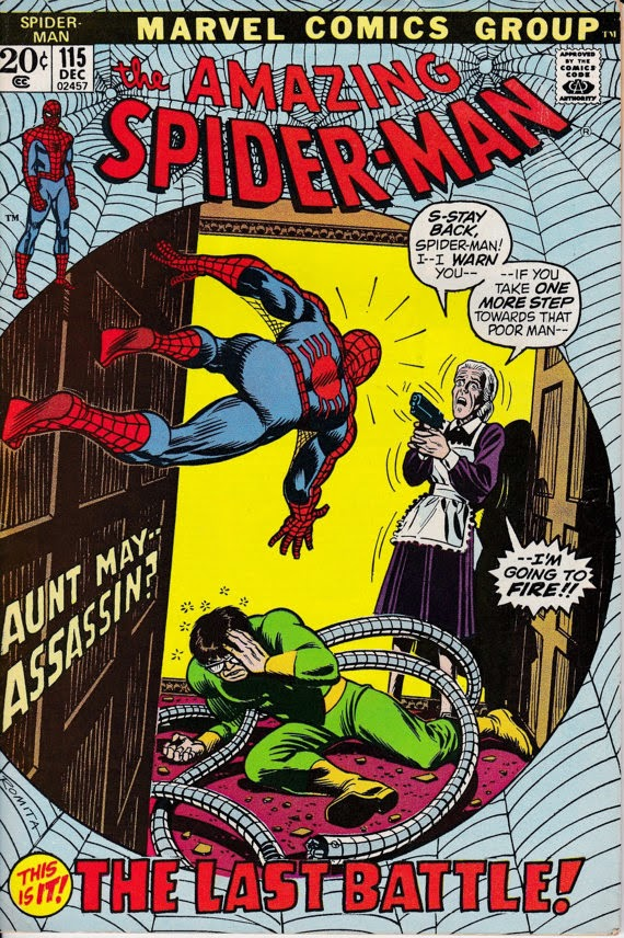 Amazing Spider-Man (1963 1st Series) #115, December 1972 Issue - Marvel Comics - Grade F/VF