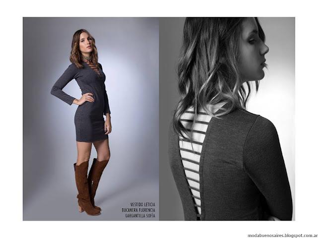 Vestidos cortos LA Cofradía otoño invierno 2016.