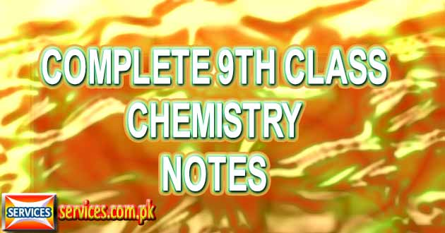 Complete 9th Class Chemistry Notes