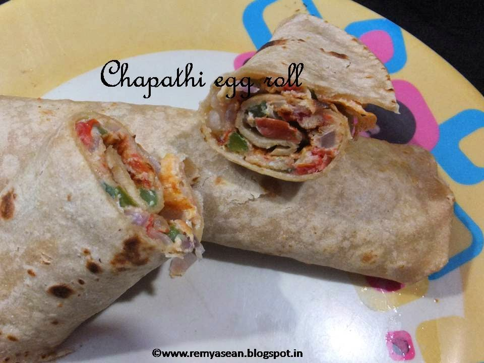 Chapathi egg roll