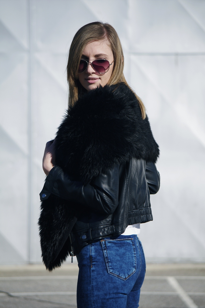 fur scarf, fashion trends, asos jeans