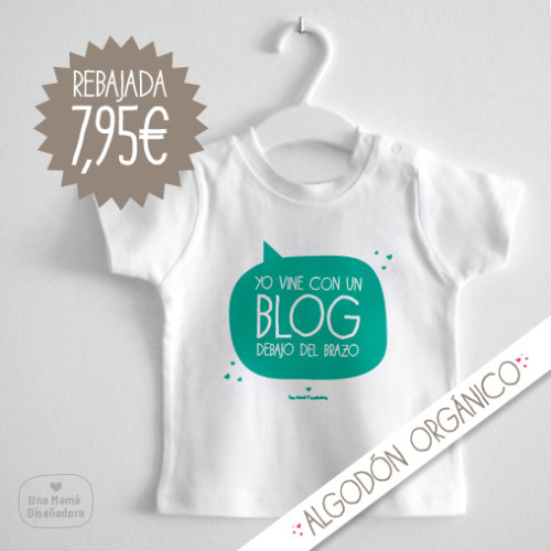camiseta bebe blogger