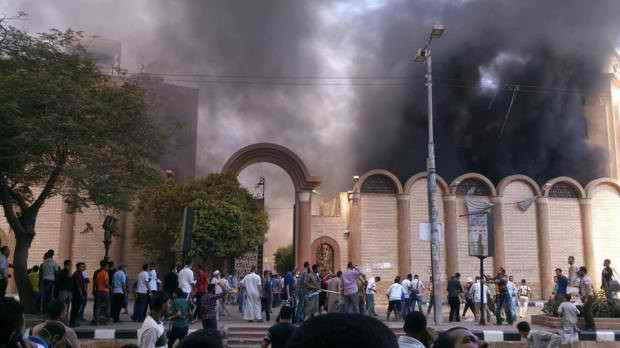 Muslim Brotherhood Supporters Attack Christian Churches, Burn All Over Egypt