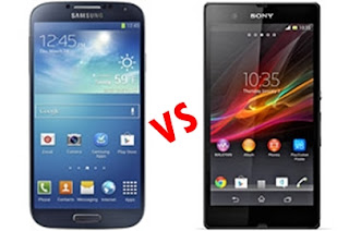 Samsung galaxy S4 home screen with android 4.2.2 vs Sony Xperia Z home screen with android 4.1.2 