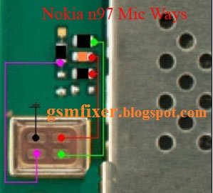 Repair Nokia N97    Mic    Problem    Jumper    Solution   gsmfixer