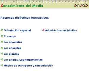 ED. ANAYA. Recursos didácticos interactivos. C.MEDIO 1º