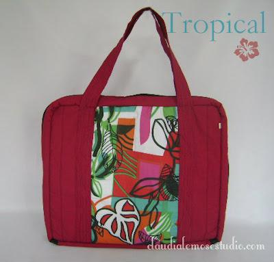 Bolsa para guardar esmaltes - modelo Tropical