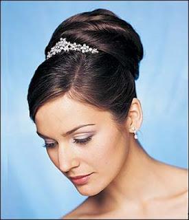 bridal updo hairstyles tiara