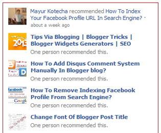 Add Facebook activity feed plugin