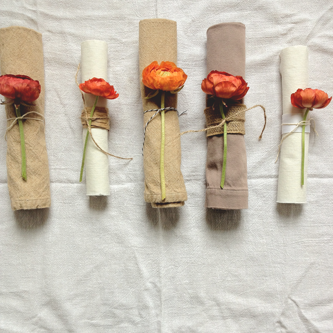 A Daily Something Diy Fresh Flower Napkin Rings