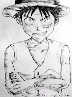 Sketch 1 of Monkey D. Luffy