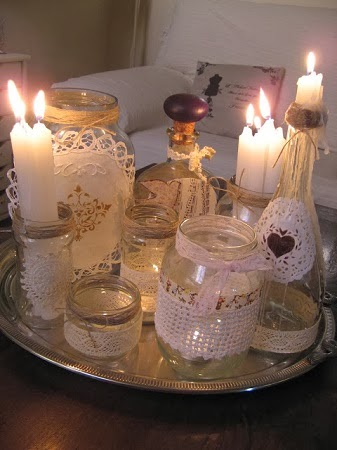 10 ideas para decorar botellas y frascos de - Botellas con velas ...