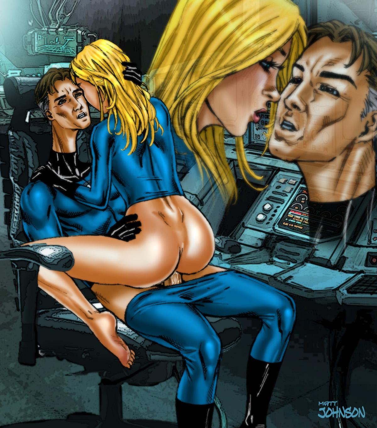 Sexy superheroine comic art matt johnson