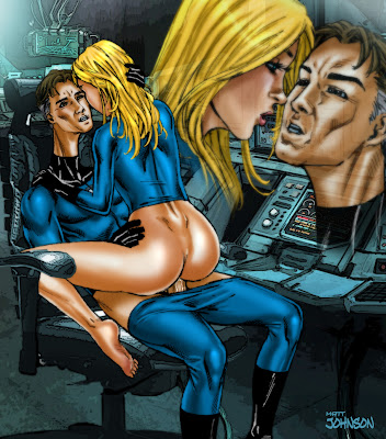 Beautiful and Sexy Superheroine XXX comic Fantastic Four Reed & Sue the Invisible Woman