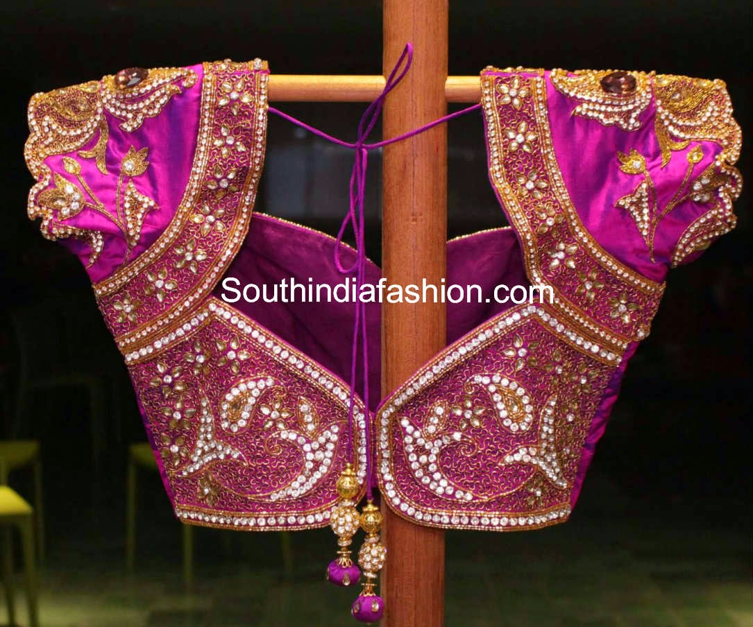 blouse designs for south indian pattu sarees