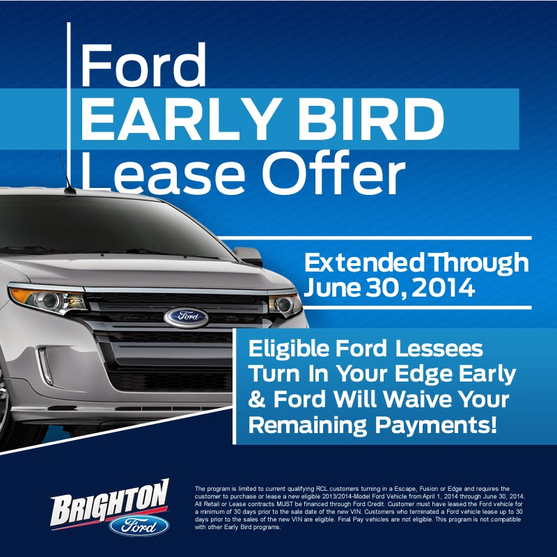 Extended Early Bird Lease Offer at Brighton Ford