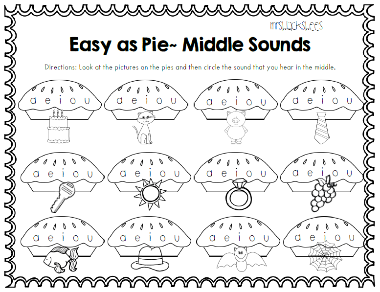the say picture, sound hear they middle and pages  worksheets the sight circle and review word then that word