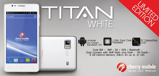 White Cherry Mobile Titan