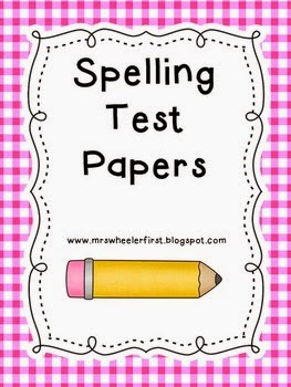 http://www.teacherspayteachers.com/Product/Free-Spelling-Test-Papers-673089