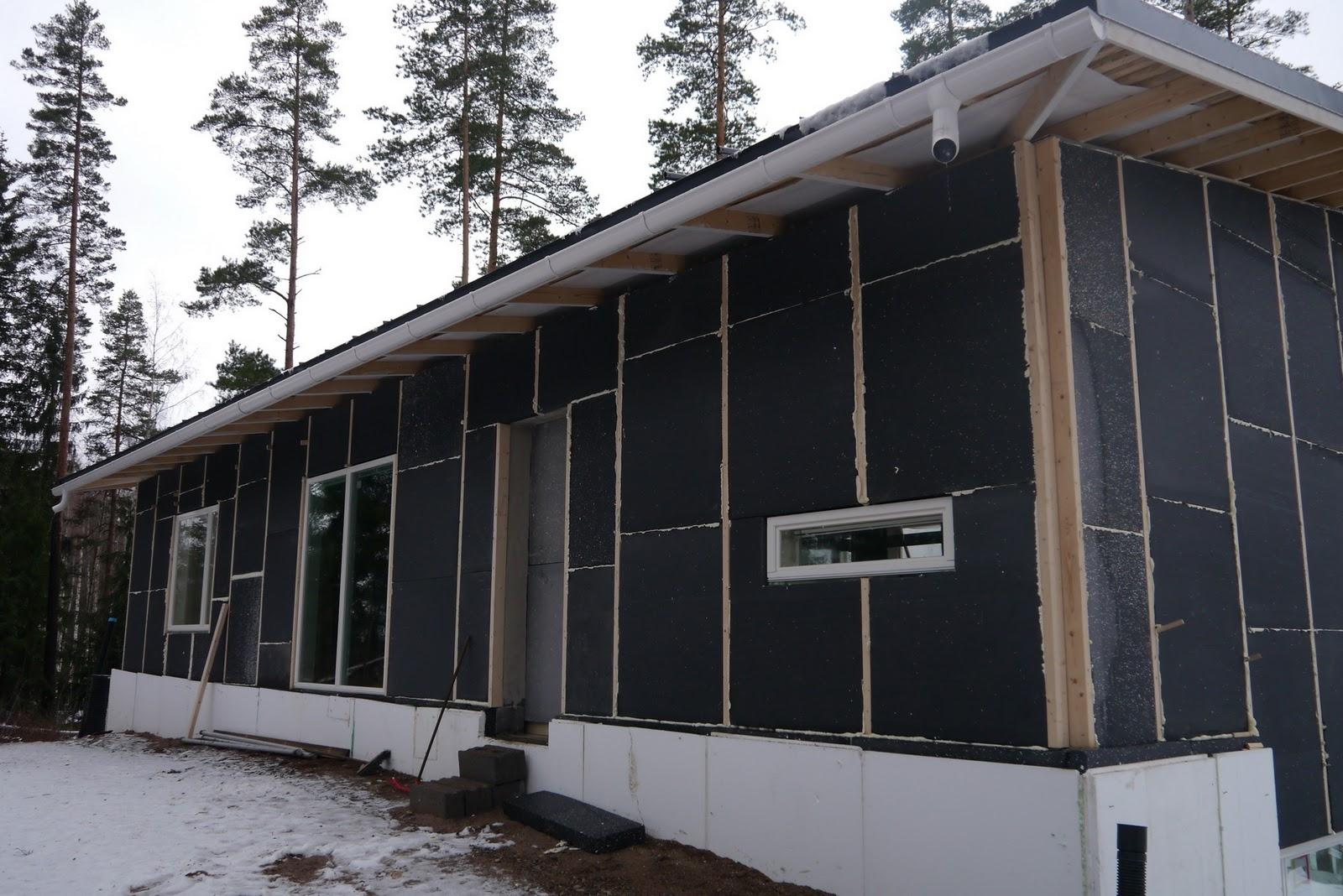 Kotikontu Seinien eristystä, ulkopuolen täytöt, ikkuna
