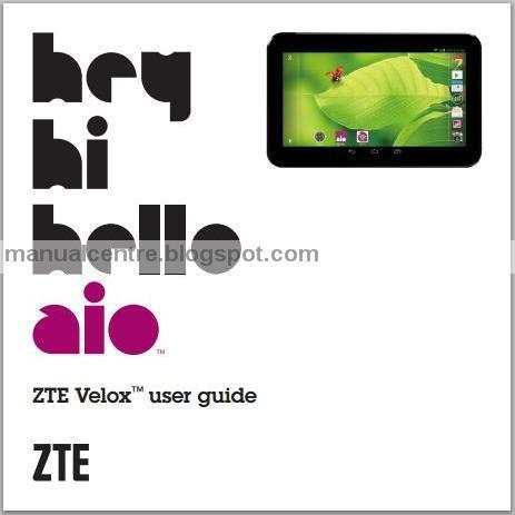 ZTE Velox Manual Cover