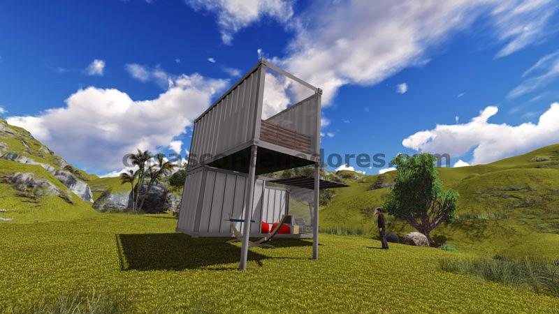 Casas ecologicas proyecto de casa contenedor en un lago for Proyectos de casas ecologicas