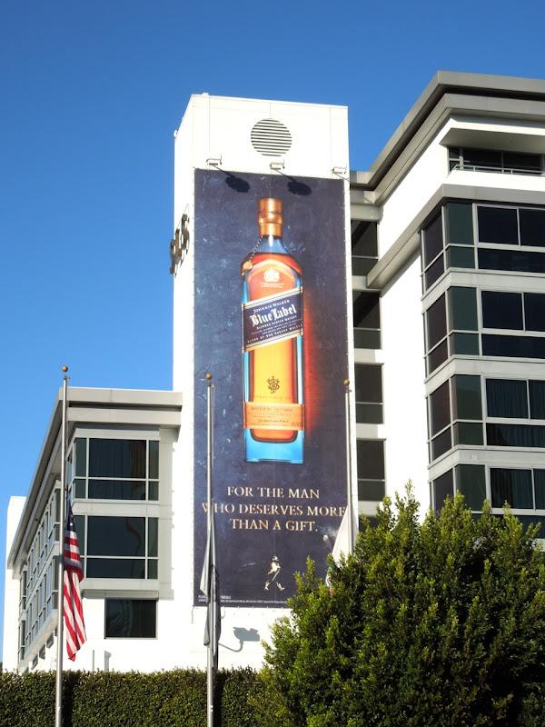 Johnnie Walker Blue Label whisky bottle billboard