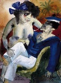 Otto Dix, Marsella (marinero y chica), 1922
