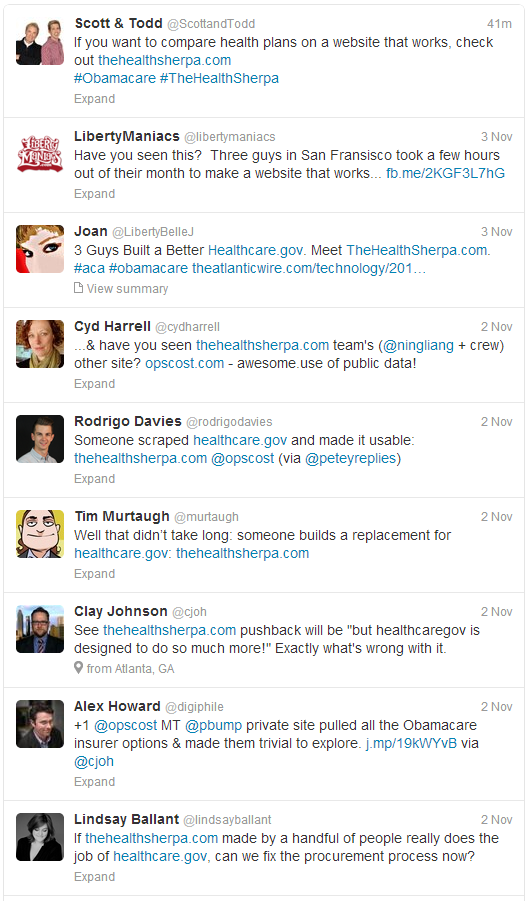 Clay Johnson's Twitter Feed on #HealthSherpa