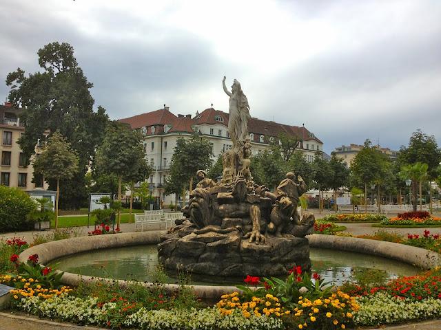 Image of Baden bei Wien - Kurpark - Undine Fountain