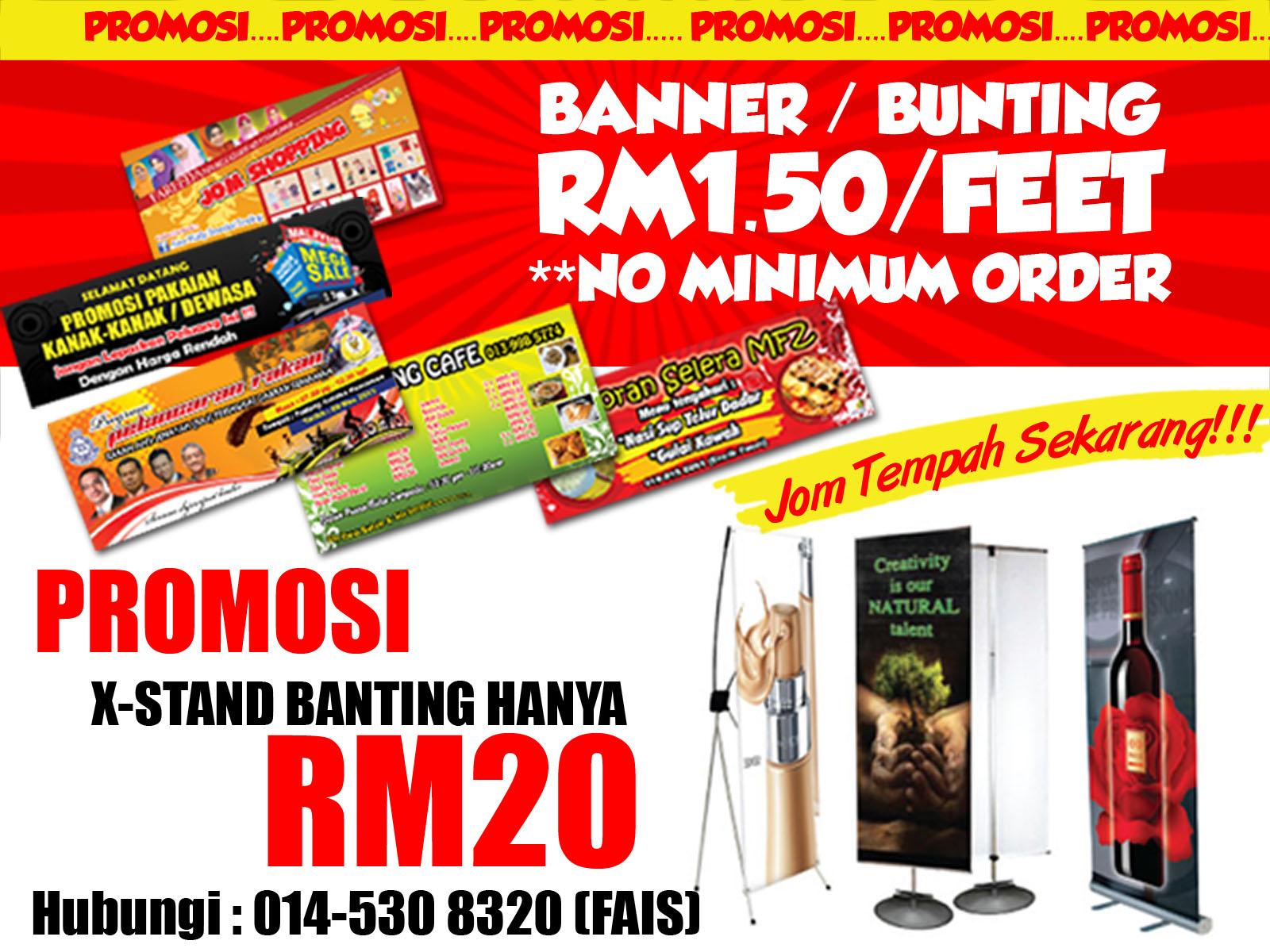tempah banner online