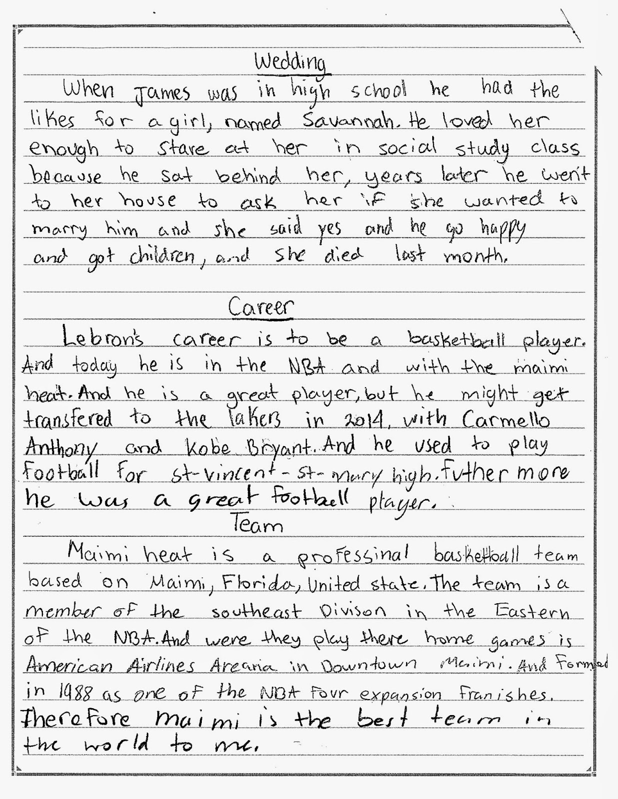 essays on emotion for sixth grader We have been providing custom writing services for over 7 years we guarantee you 100% confidence, plagiarism free and high quality essays on a 24/7 basis.