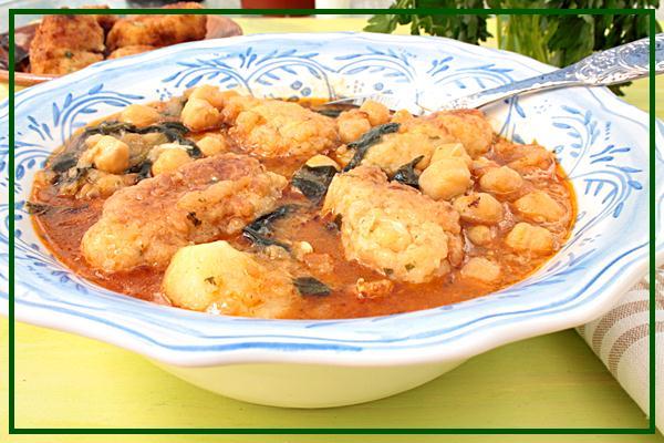 Potaje de garbanzos y espinacas con alb ndigas de bacalao - Potaje con bacalao y espinacas ...